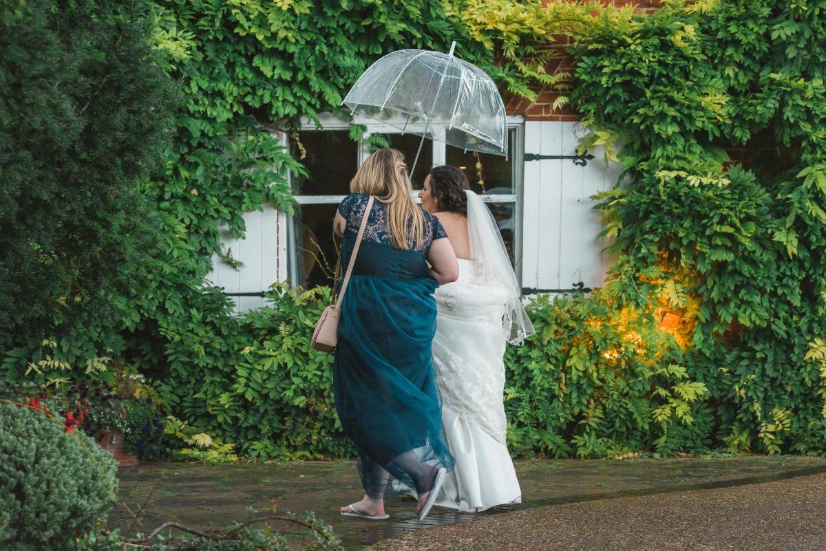 FAQ's - Bride And Bridesmaid Walking Under An Umbrella