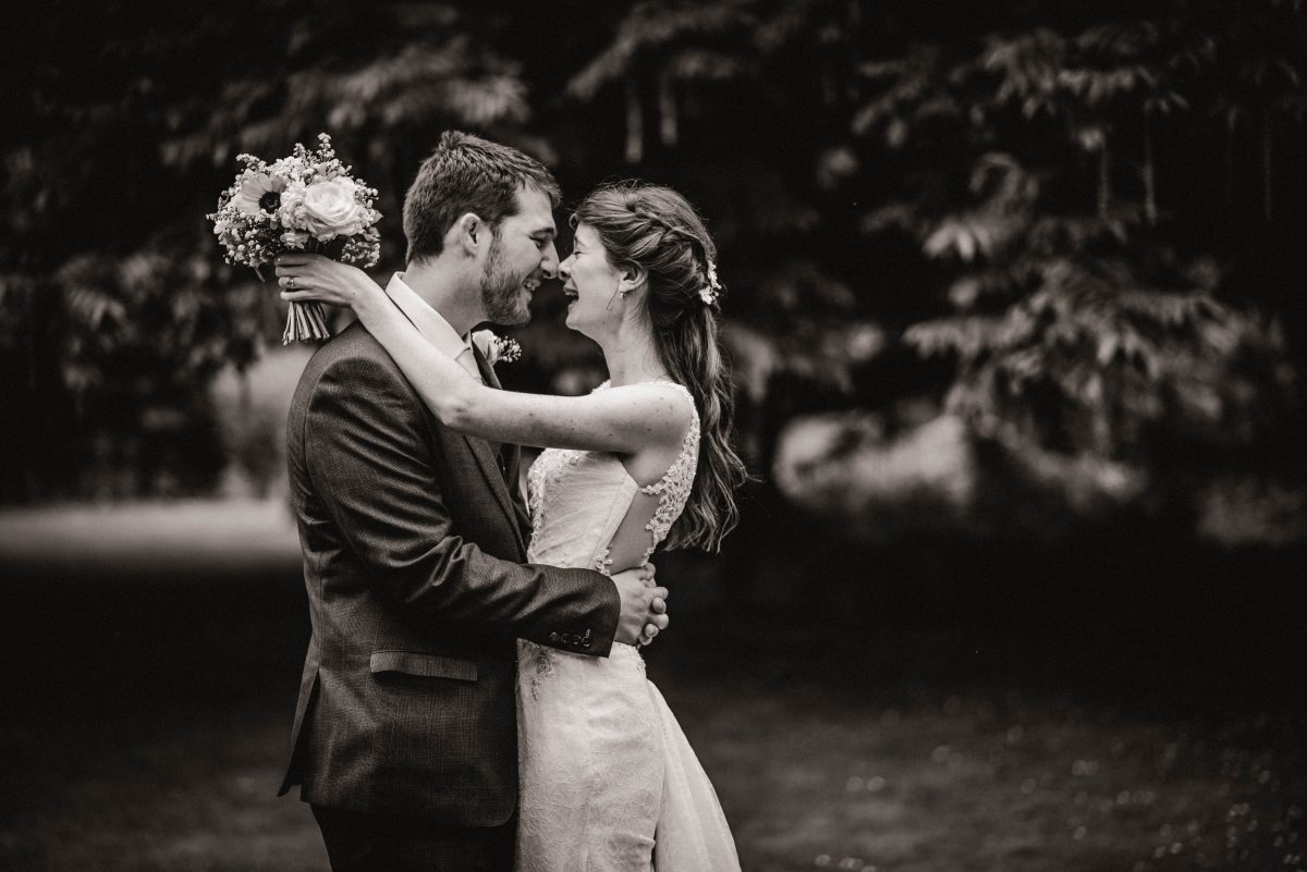 Norfolk Wedding Photographer - Bride And Groom Nose To Nose