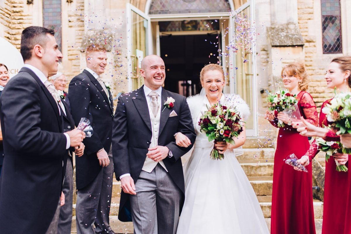 Norfolk Wedding Photographer - Bride & Groom Exiting The Church