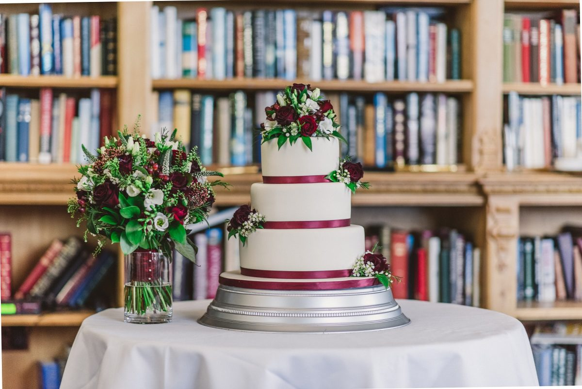Norfolk Wedding Blog - Wedding Cake At Stoke Rochford Hall