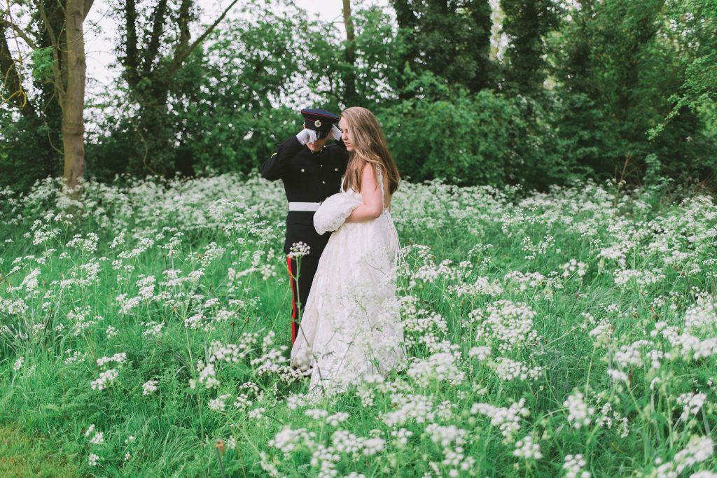 Norfolk Wedding Photographer - Bride & Groom In The Meadow