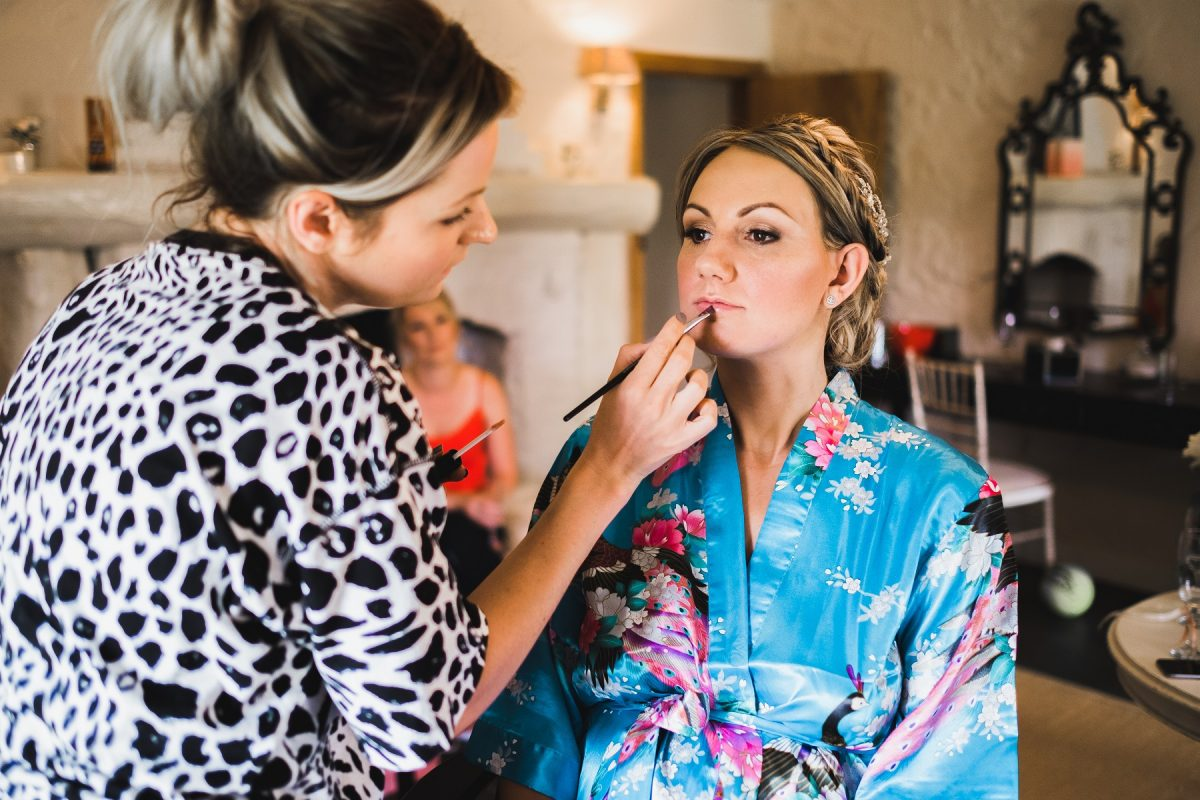 The morning prep at a Pentney Abbey wedding