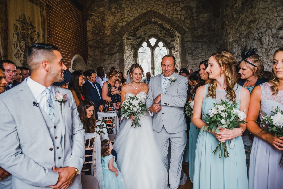 Wedding photographer in Norfolk capturing a Pentney Abbey Gatehouse ceremony