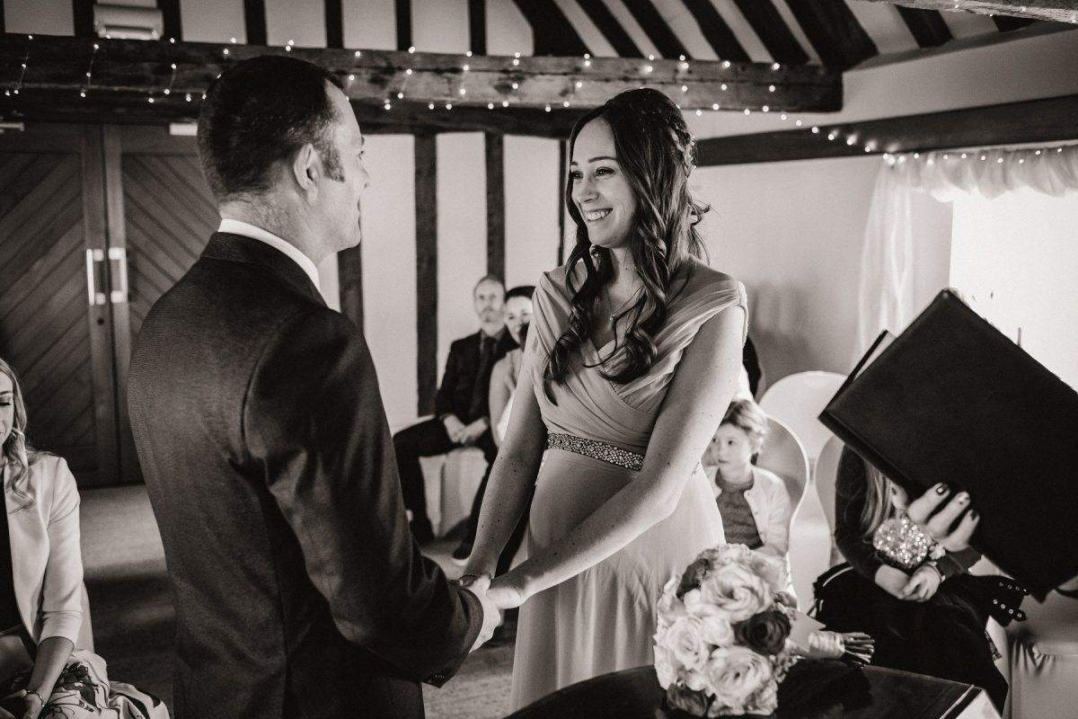 Wedding ceremony at Hanse House