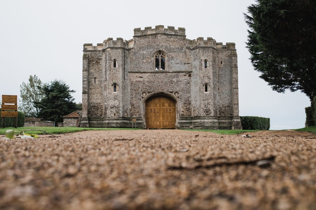 Pentney Abbey Gatehouse viewed from the front