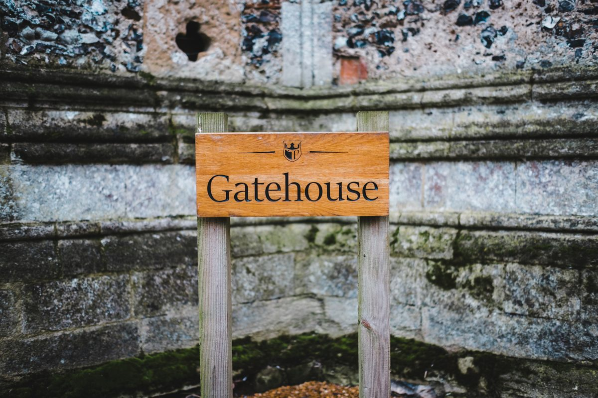 Pentney Abbey Gatehouse sign