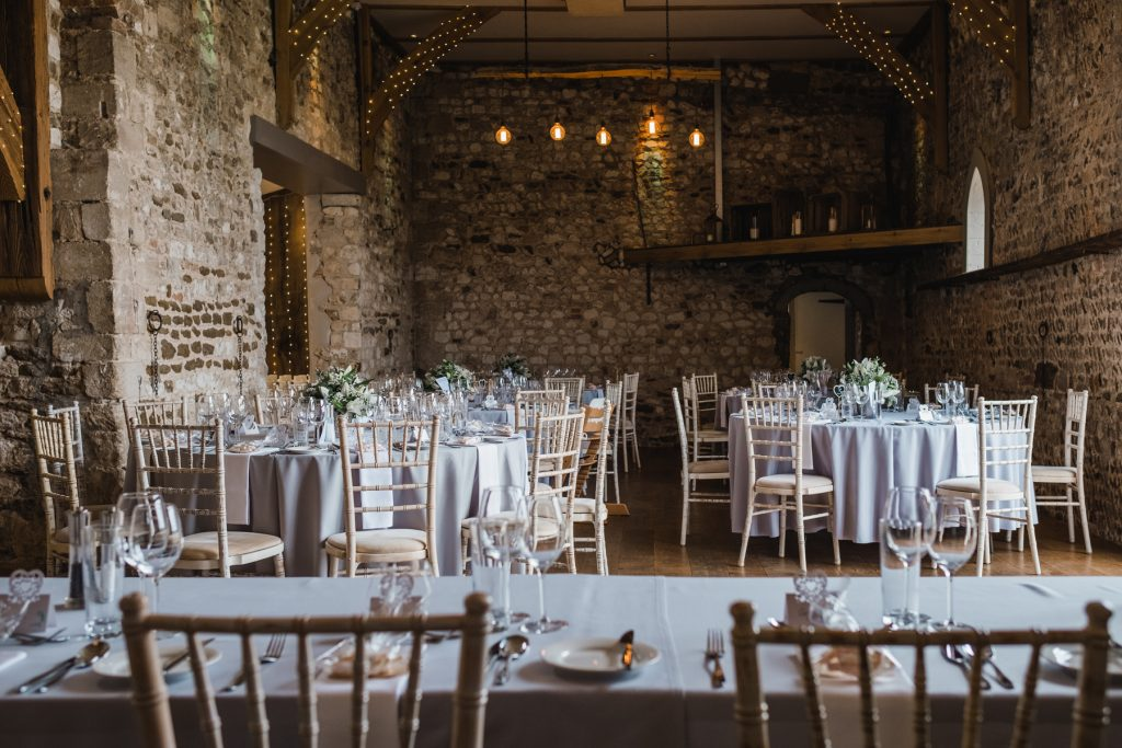 Pentney Abbey barn table setup
