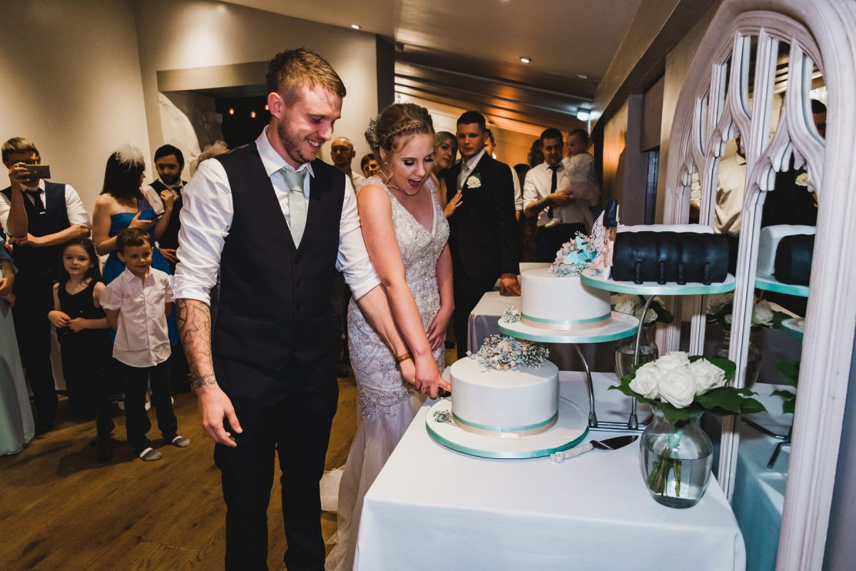 Cake cutting at Pentney Abbey